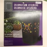 stickers vlinders voor containers/brievenbus
