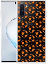 Galaxy Note 10 Hoesje Orange Soccer Balls