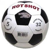 Hot sports Voetbal hot-shot wit zwart maat 5