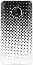 Motorola Moto G5 Plus hoesje zwart witte cirkels