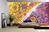 Violet | Yellow Photomural, wallcovering