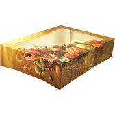 Cateringdoos, Fruit, Karton en kunststof, 330x260x75mm, met venster,