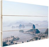 Bergen rondom Rio de Janeiro Hout 60x40 cm - Foto print op Hout (Wanddecoratie)