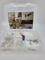 Hobbypakket met slotjes, kapjes, ringetjes en staafjes