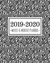 2019-2020 Weekly & Monthly Planner: Diary Agenda Calendar Schedule Organizer - Zebra Print - Sept 2019 through December 2020