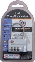 Travelsafe - TSA Kabelslot - Grijs