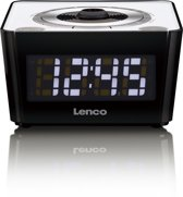 Lenco CR-16 Klok Zwart, Wit radio