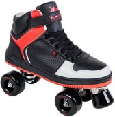 Rookie Rolschaatsen Hype Hi Top - Kinderen - Zwart/Rood - Maat 35