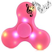 Hand Spinner LED verlichting Bluetooth Speaker Roze