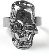 Halloween Piraten ring met schedel