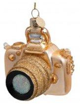 Vondels Kerstboomhanger Camera - Goud - 11cm - glas