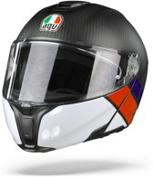 Agv SportmodularCarbon Red Blue  Systeemhelm - Motorhelm - Maat M