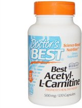 Best Acetyl-L-Carnitine 500 mg (120 Capsules) - Doctor's Best