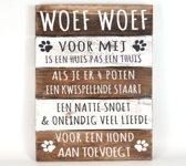 Wandborden Hout Spreukbord Spreuken Honden Woondecoratie Cadeau Verjaardag