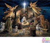 "Diamond Painting ""JobaStores®"" Kerst Stal - volledig - 40x50cm"