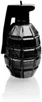 Hoogglans zwart gelakte figuurkaars, design: Granaat Hoogte 11 cm (12 uur)