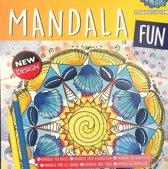 Kleurboek volwassenen / kinderen / mandala fun / new design / donkergeel