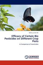 Efficacy of Certain Bio Pesticides on Different Crop Pests