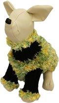Trui groen / geel voor de hond - S ( rug lengte 23 cm, borst omvang 36 cm, nek omvang 18 cm )