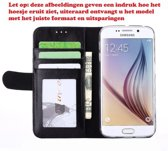 Premium Hoesje voor LG G5 H850 - Book Case - Glad Leer Leren Lederen - geschikt voor pasjes - zwart