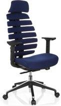 hjh office Ergo Line II Pro - Bureaustoel - Stof - Blauw