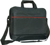 15.6 inch Laptoptas type schoudertas voor laptop en notebook (messenger tas), 15-16 inch voor o.a. HP, Dell, Asus, Acer, Medion, Toshiba, Lenovo, Macbook, Microsoft, Peaq etc., zwart , merk i12Cover