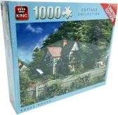King Puzzel - 1000 stukjes - oud Engels huis - Roses House - Limited Edition
