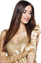 24 stuks: Handschoenen elleboog Monte Carlo - goud