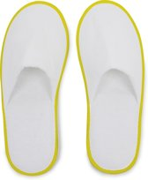 Small Foot Huis- Of Hotelslippers - Slippers - Unisex - Maat 1 maat - Geel/Wit