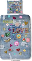 Good Morning 5737-P Patchy - kinderdekbedovertrek - 140x200/220 cm  - 100% cotton - multi