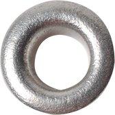 Eyelets, d: 8 mm, h: 3 mm, zilver, 50stuks