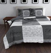 Sleeptime Text Rose Dekbedovertrekset - Lits-jumeaux - 240 x 220 cm - Grijs