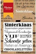 Marianne Design Sinterklaas Clear Stamps Siliconen Stempelblok Met Sint Teksten