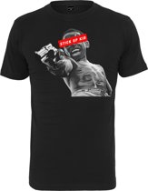 Mister tee stick up kid t-shirt in kleur zwart  in maat XXL