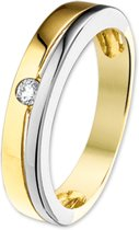 The Jewelry Collection Ring Diamant 0.068 Ct. - Bicolor Goud (14 Krt.)