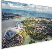 Foto vanuit de lucht van Gardens by the Bay Plexiglas 30x20 cm - klein - Foto print op Glas (Plexiglas wanddecoratie)