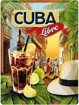 Cuba - Libre metalen wandplaat