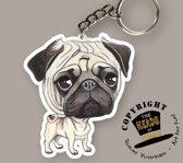 Sleutelhanger Hond Mopshond