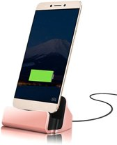 Premium Type C Desktop Luxe Premium Docking Station Sync Oplader Dock - Rose Goud