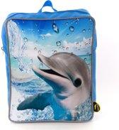 Rugzak Flipper - Rugzak Dolfijn - Dieren Rugzak - 33 x 25 x 12 cm