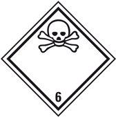 ADR sticker klasse 6.1 'Giftig' zeewaterbestendig 250 x 250 mm