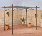 Clp Pergolapaviljoen ULPGAR 01 A, metaal met poedercoating, paviljoen, tuinpaviljoen terrasoverkapping, rozenboog, tuinboog, klimop, rankhulp, afmeting ca. 310 x 190 cm, hoogte ca. 230 cm, rechthoekig - antraciet