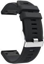 Siliconen Horloge Band Voorr Garmin Fenix 5S (Plus) / Sapphire Band Strap - Armband Polsband Sportband - 20MM Quickfit - Small/Large - Zwart