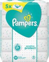 Pampers Sensitive Protect Billendoekjes - 260 Stuks (5x52) - Babydoekjes - Voordeelverpakking