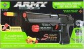 Plastic speelgoed pistool met 7 zachte kogels