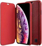 Melkco Origin Apple iPhone XR Book Case Echt Leer Rood