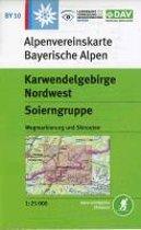 DAV Alpenvereinskarte Bayerische Alpen 10. Karwendelgebirge Nordwest, Soierngruppe 1 : 25 000