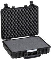Explorercases 4412 Koffer Zwart met foam 474x415x149