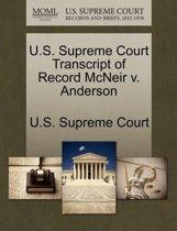 U.S. Supreme Court Transcript of Record McNeir V. Anderson
