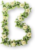 Basil Flower Garland - Bloemenstreng - Wit / Groen